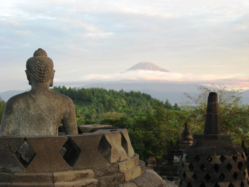 Morgenstimmung in Borobudur