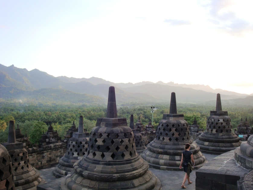 Abendstimmung, Borobudur