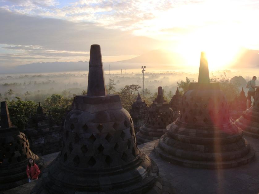 Sonnenaufgang, Borobudur