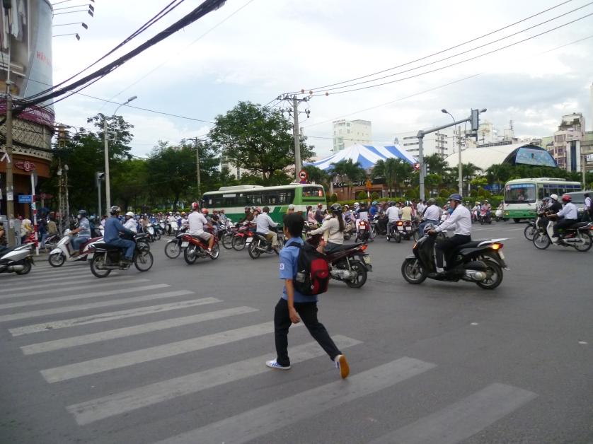 Straßenverkehr Saigon