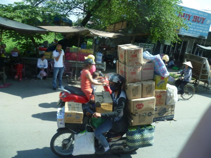 Beladenes Moped, Vietnam