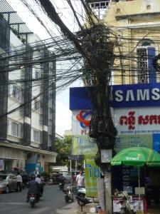 Stromkabel, Phnom Penh
