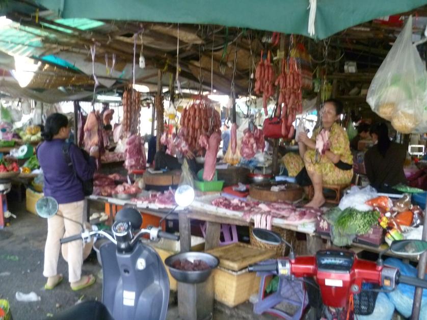 Fleischstand, Phnom Penh