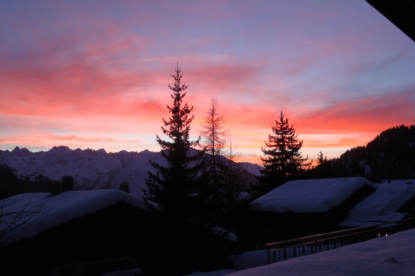 Abendrot in Verbier