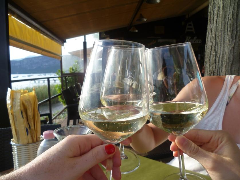 Lecker Weinchen darf natürlich auch nicht fehlen