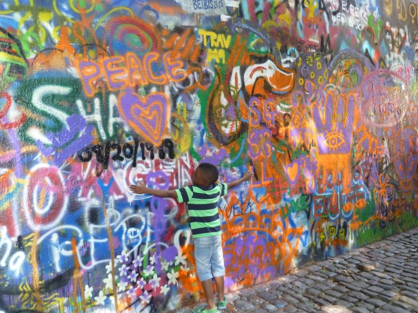 Graffitiwand, Prag, Tschechien
