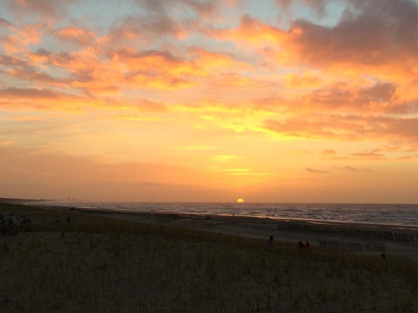 Sonnenuntergang, Katwijk, Holland