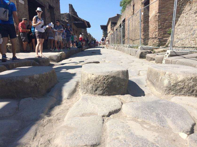 Straße, Zebrastreifen, Pompeji